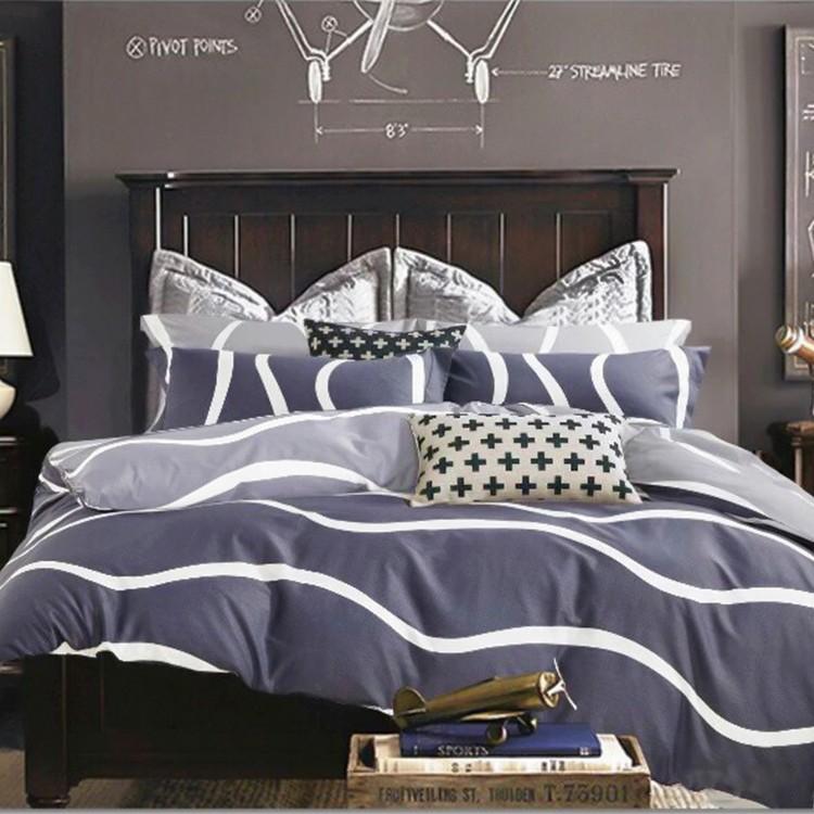 ❤ 6 折❤100 精梳純棉雙人床包被套兩用被組雙人~c49 風車水映_ 藍~Artis