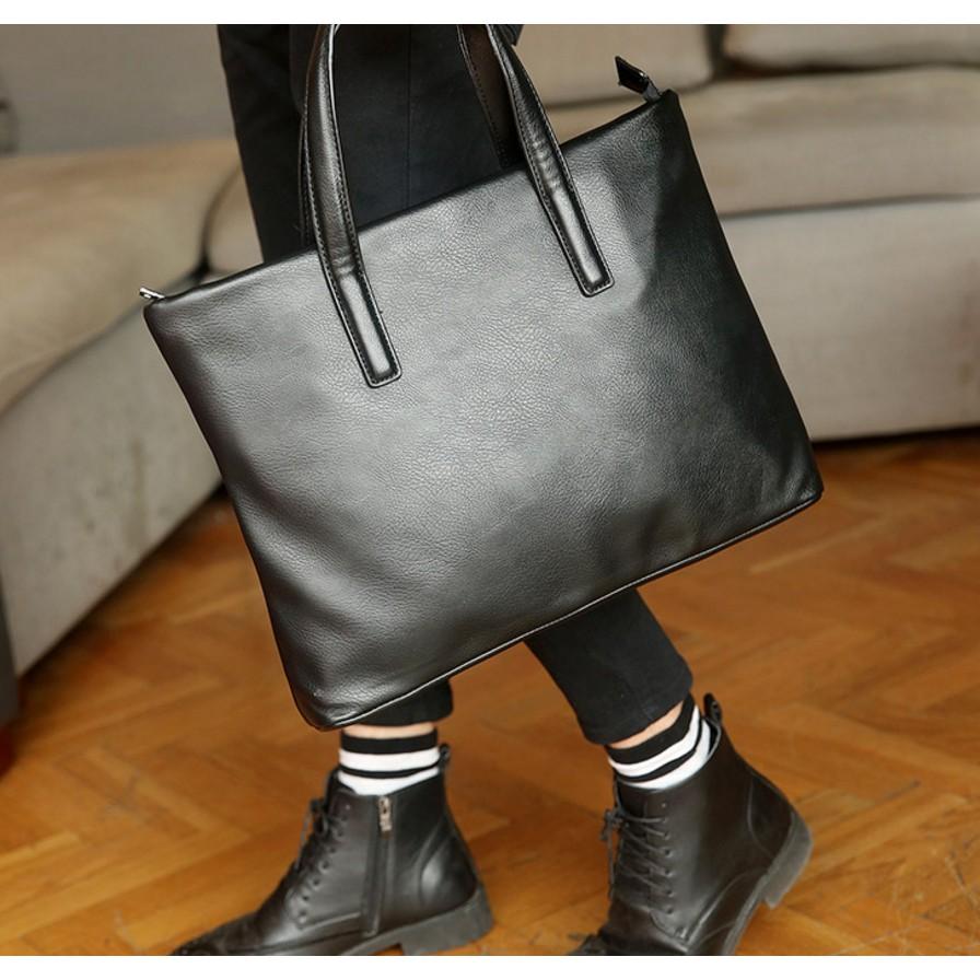 優品簡單 男士手提包橫款公事包電腦包 商務休閒男包檔包