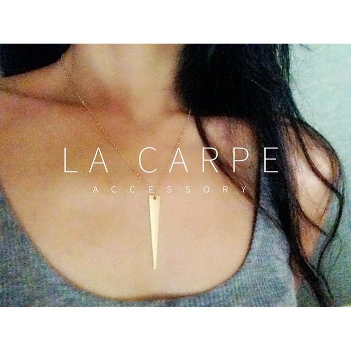 LaCarpe CHERYL 雪柔系列 幾何三角項鍊嬉皮美式ASOS 極簡款式細鍊~SZ0