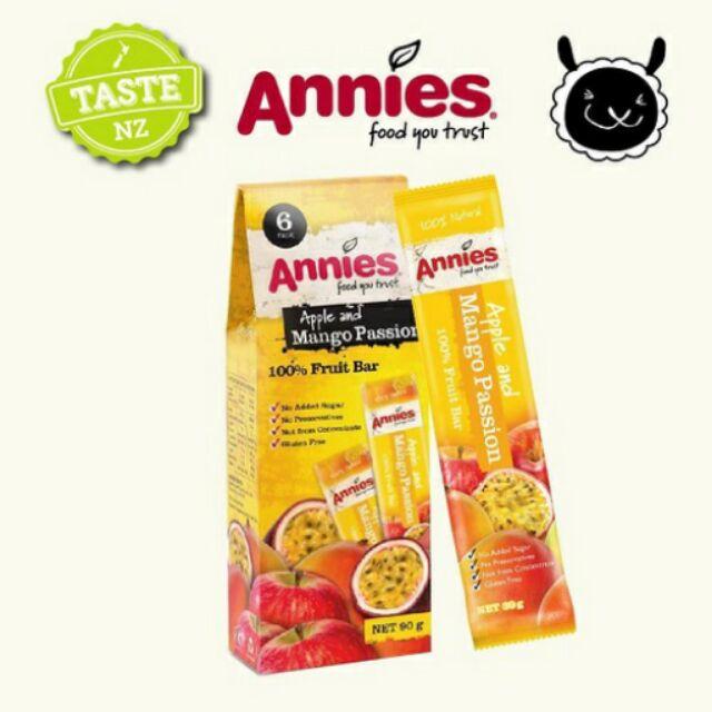 ~壽滿趣紐西蘭 ~Annies 全天然水果條百香芒果15gm6 片裝