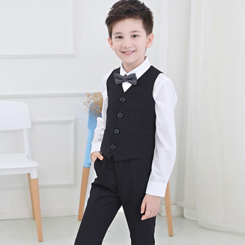 鋼琴演出服_ 男童禮服馬甲男孩套裝主持人兒童大童鋼琴
