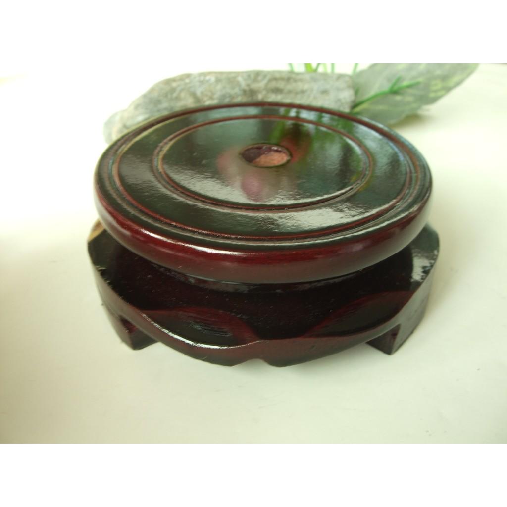 圓形8cm 木質旋轉擺件底座D4 花瓶茶壺花盆佛像奇石頭木制底座架