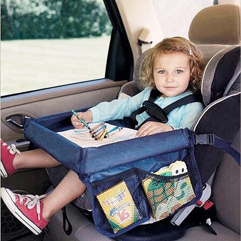 防水嬰兒安全旅行托盤繪圖板兒童汽車座椅