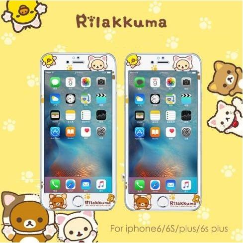 拉拉熊懶懶熊Rilakkuma 玻璃膜iphone6 plus iPhone 7 7p