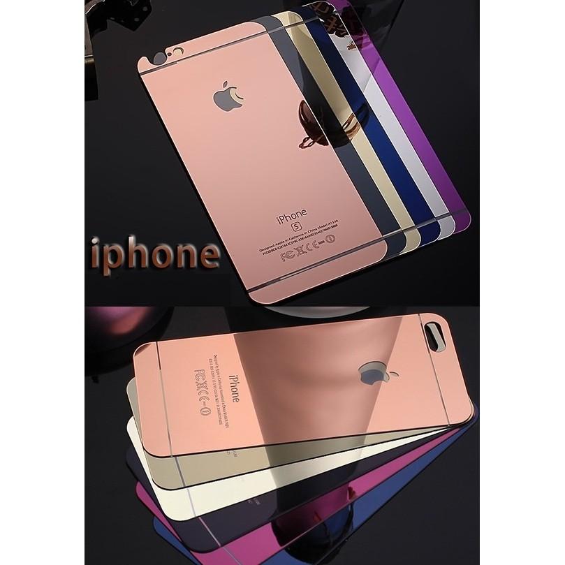 電鍍鏡面前後一組蘋果滿版iphone5 5s se 6 6s 6 6S plus 手機螢幕
