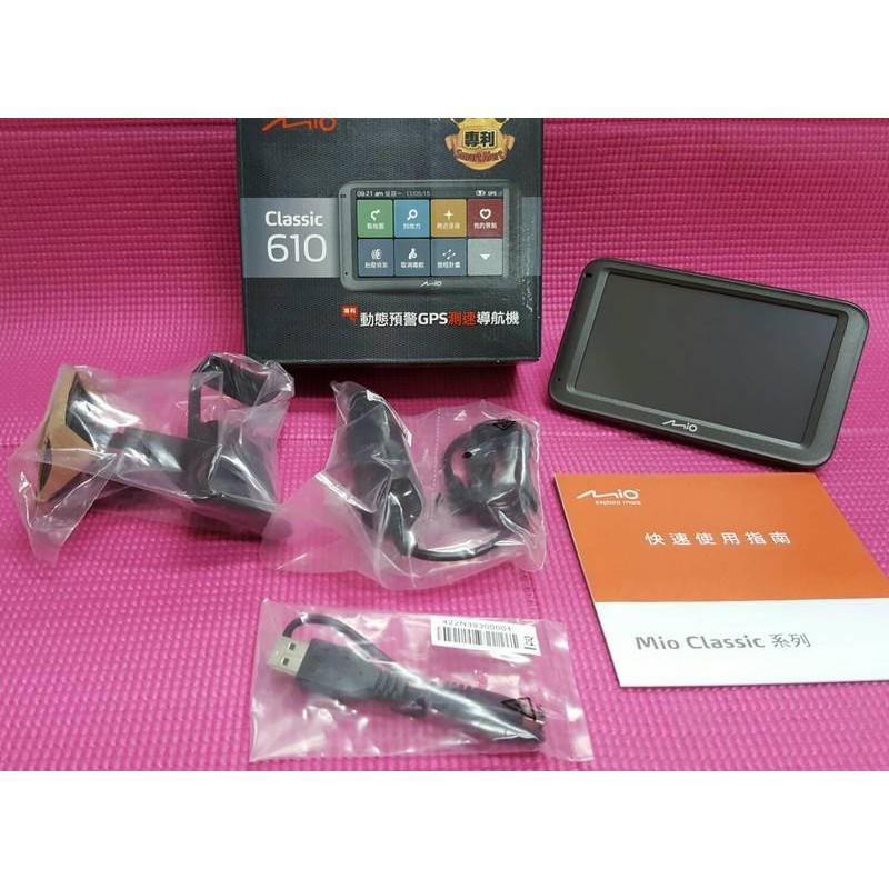 ~行車 ~展示機Mio Classic 610 5 吋動態預警GPS 測速導航機衛星導航支