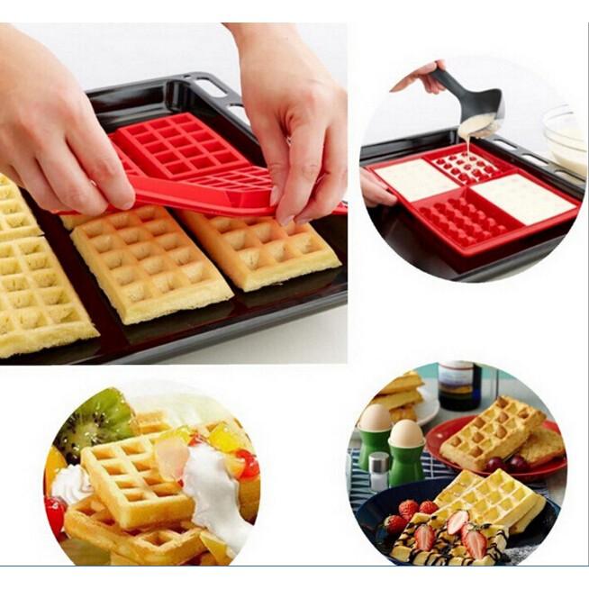 ~MIMI SHOP ~矽膠四格鬆餅模四格入鬆餅模鬆餅矽膠鬆餅製作器多 巧克力情人節廚房鬆