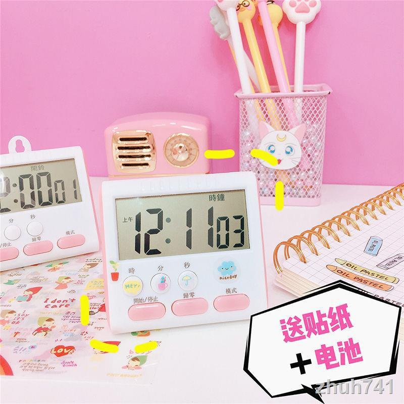 📣計時器現貨 秒表學生時間管理計時器倒記廚房烘焙定時器學習提醒器做題鬧鐘 鬧鐘 時鐘 計時 小鬧鐘 靜音計時器