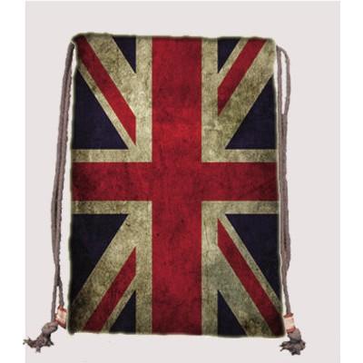 英國美國國旗束口袋束口後背包