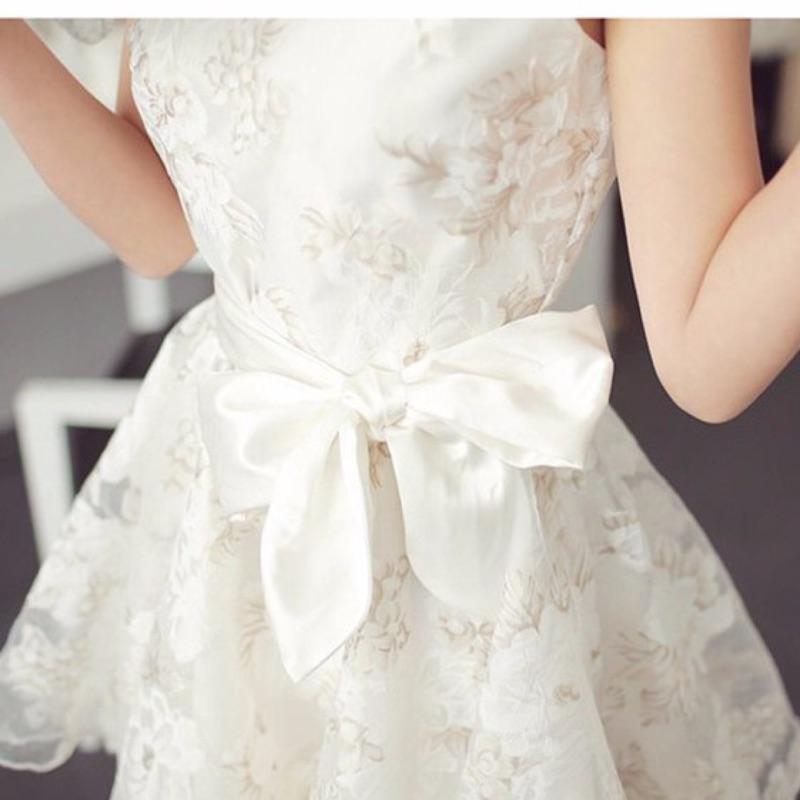 5 27 唯美浪漫網紗印花紋無袖洋裝