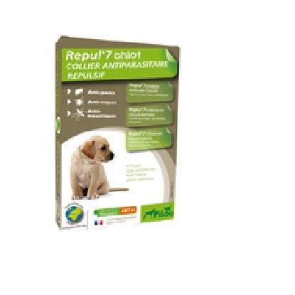 法國皮樂Pilou 天然防水驅蚤項圈幼犬小型犬中型犬60cm