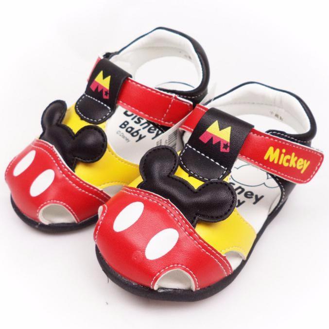 Disney 迪士尼活潑米奇寶寶學步鞋童鞋463205 紅色專櫃正品13 15 公分