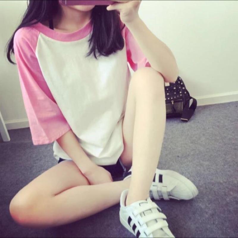韓國短袖女t 恤純棉 上衣