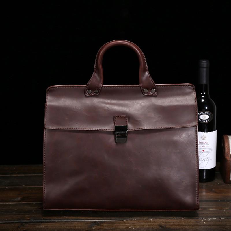 男包 包單肩包斜挎包手提包旅行包男士包包潮流瘋馬皮公文