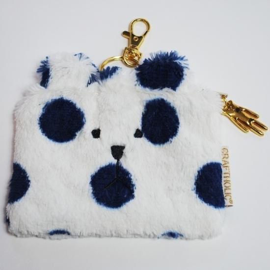 維琪哲哲~ 購回 CRAFTHOLIC 宇宙人藍色點點熊熊悠遊卡夾零錢包鑰匙圈