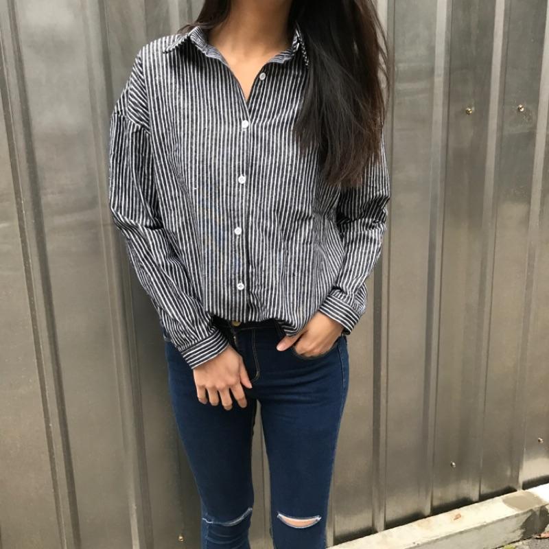 oversized stripe blouse