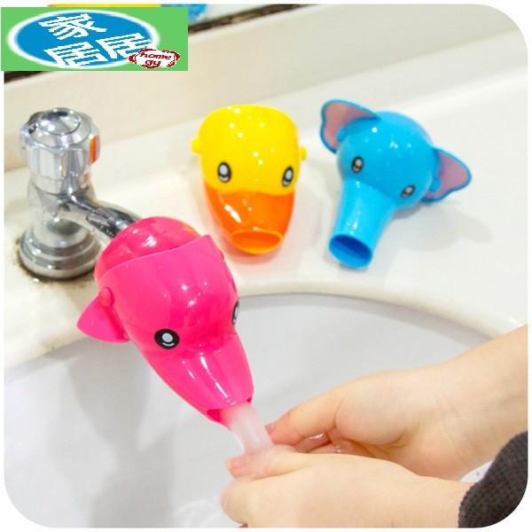 家居居兒童水龍頭延伸器導水槽加長引水器寶寶卡通矽膠洗手延長器