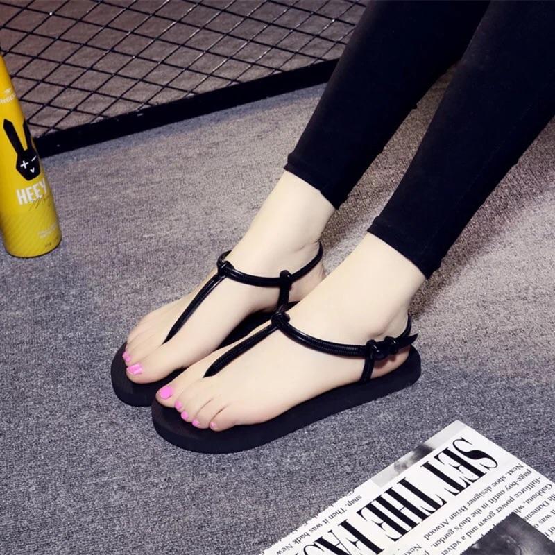 ❤️ 簡約沙灘涼鞋❤️超級無敵霹靂 金黑130 尺寸:S 35 36 M 37 38 L