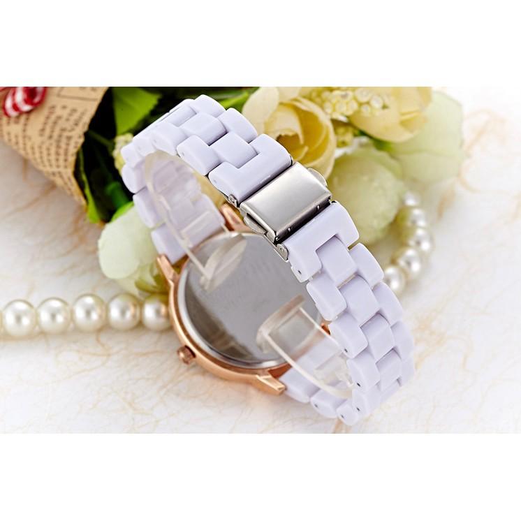 外貿爆款鑲鑽手錶女款復古羅馬刻度小錶盤仿陶瓷玫瑰金合金女表