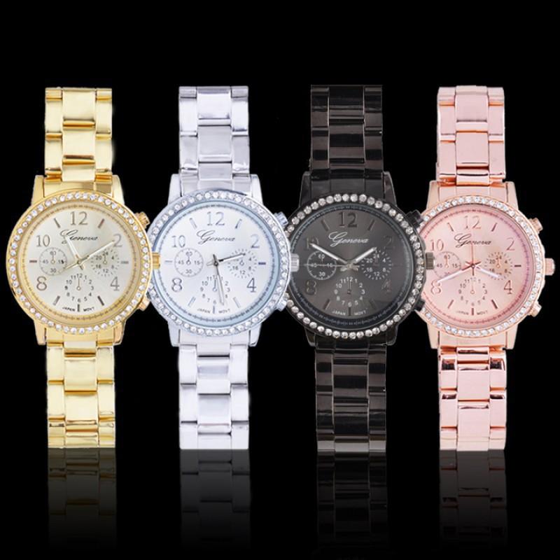 閃亮水晶石英手錶