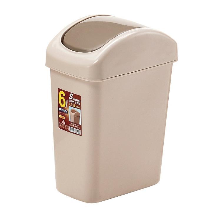 簡單樂活BI 5864 6L 天王星搖蓋紙林搖蓋式垃圾桶廁所用桌上型 全家