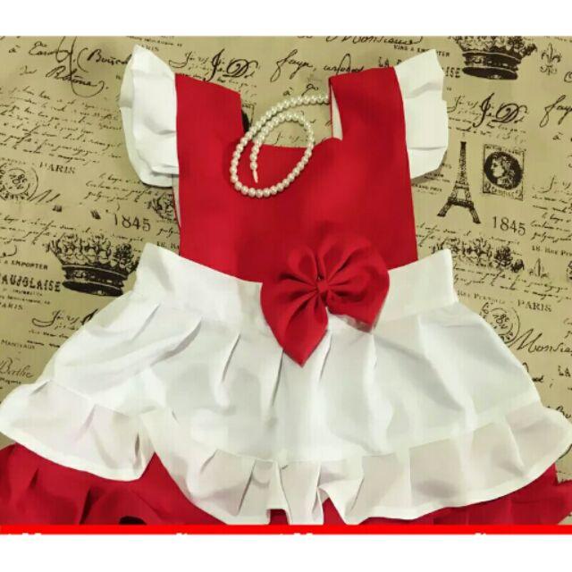 兒童畫畫衣原創 小紅帽系列寶寶圍兜吃飯衣無袖罩衣防水圍裙親子款( )