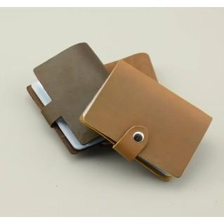 瘋馬牛皮男士超薄多卡位名片夾真皮小卡夾女式卡片包信用卡套卡袋