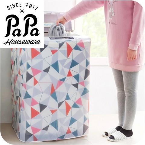 PaPa 家居全自動半自動洗衣機防塵罩 滾筒波輪洗衣機防水防曬印花蓋布