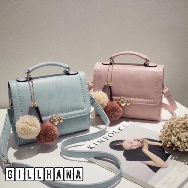 春夏粉嫩色系兩用手提包斜背包側背包公事包OL 通勤包(粉藍粉紅粉灰黑米白粉紫)