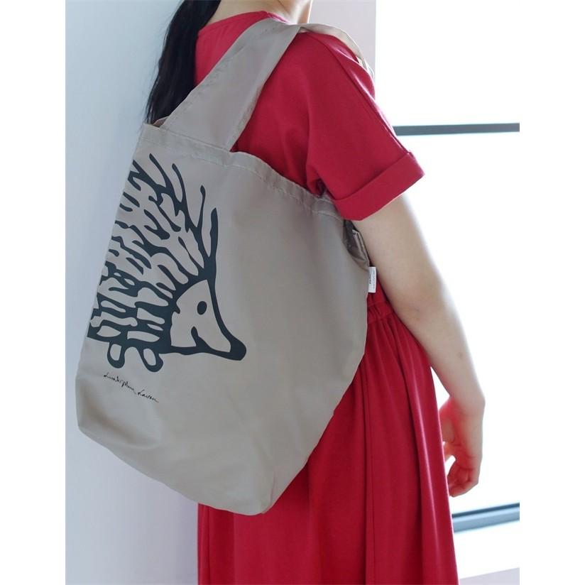 FUN 日雜愛地球刺蝟Lisa Larson 輕量環保袋 袋側肩包單肩包背心袋