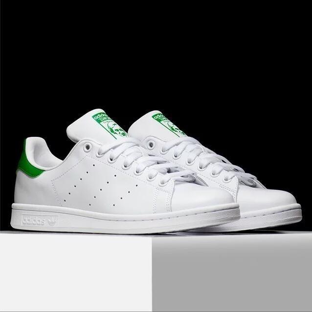Adidas Originals stan smith 史密斯全白粉色綠深藍慢跑鞋男女款A