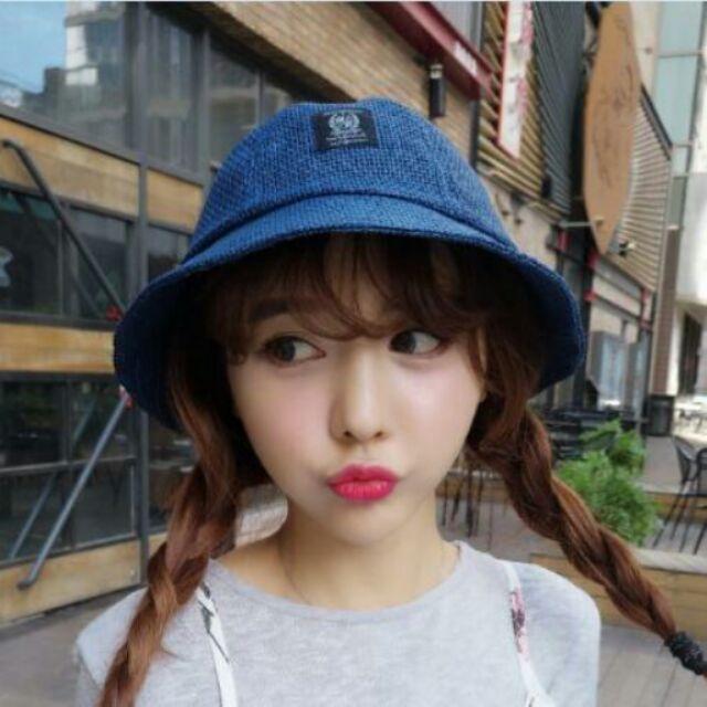 亞麻漁夫帽盆帽可愛女帽帽子