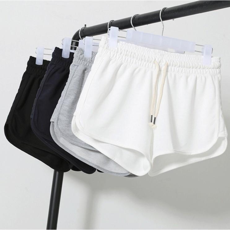熱褲 寬鬆休閒 短褲女大碼居家熱褲胖MM 顯瘦高腰闊腿褲