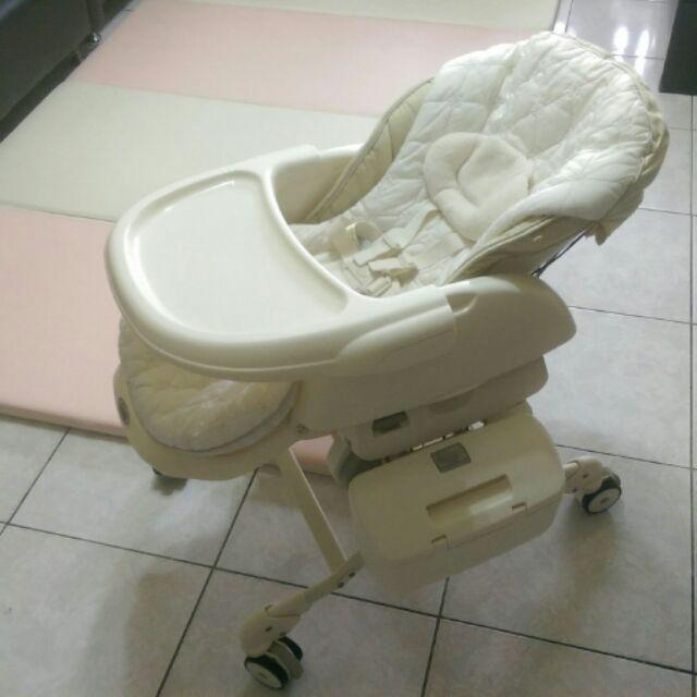 Combi Letto LX 款電動安撫餐椅搖床法國香草