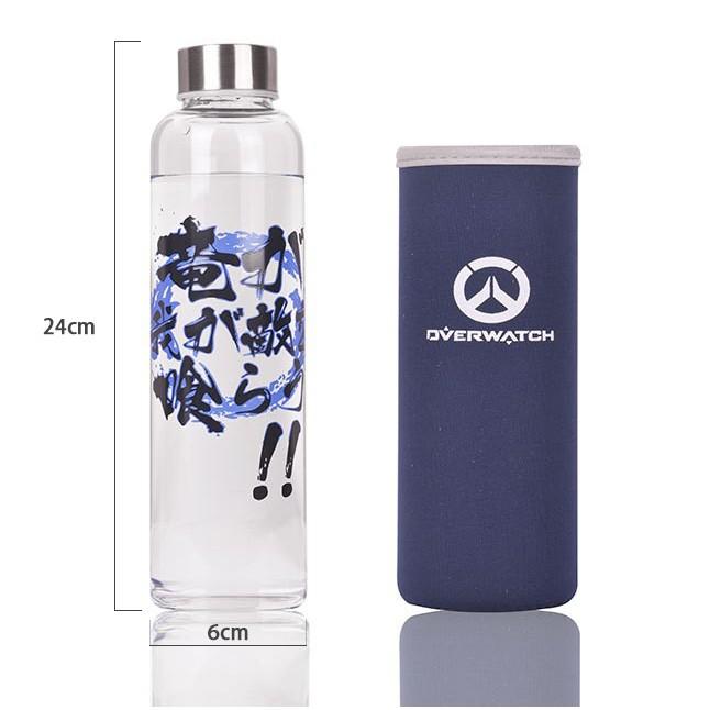 ~MAMMON ~半藏OVERWATCH 鬥陣特攻動漫鋼化玻璃瓶550ML 附提袋訂購