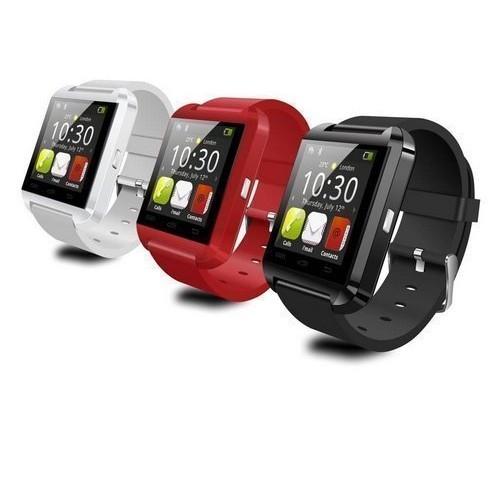 新Watch U8 藍牙手錶觸屏計步震動通話手鐲智慧穿戴手錶手環手機伴侶計步器