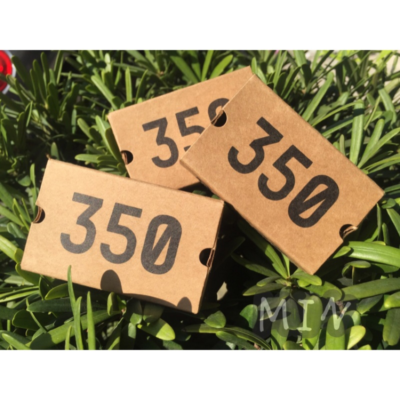 YEEZY BOOST 350 V2 貼紙灰橘紙盒