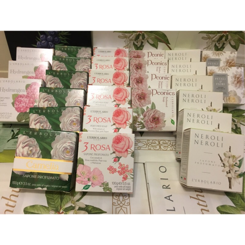7 18 新鮮貨蕾莉歐植物花香皂100g 繡球花山茶花玫瑰牡丹花橙花大理花豬媽媽的歐洲 節