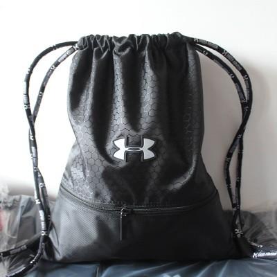 ~UA  ~Under Armour UA 安德瑪束口袋包包拉繩式籃球雙肩後背包鞋袋、UA