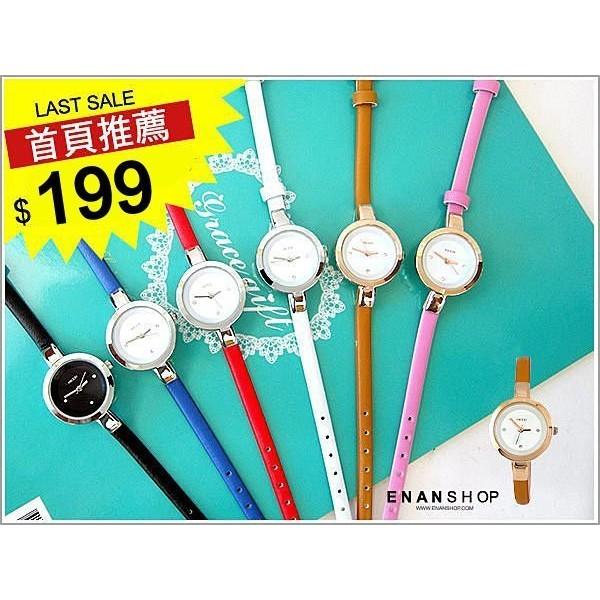 惡南宅急店~0461F ~七夕情人對錶女錶香港品牌皮革手錶水鑽馬卡龍手錶