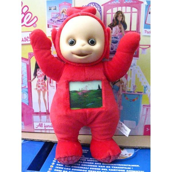 PLAY ALONG 品牌Teletubbies 天線寶寶玩偶抱偶35CM 紅色小波