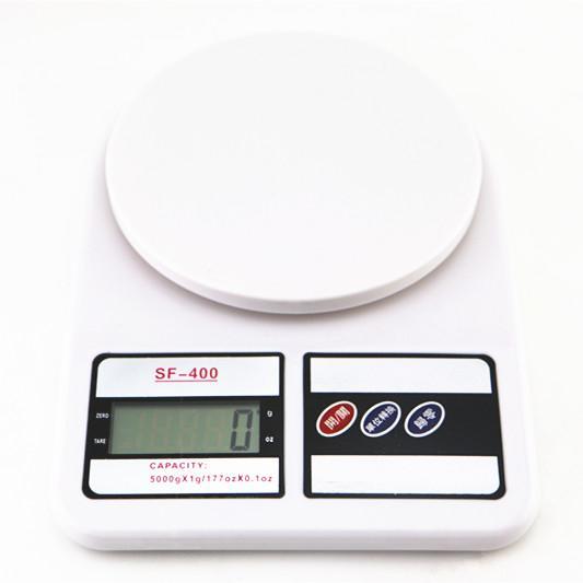 殺到谷底SF400 液晶螢幕顯示電子秤廚房用秤蛋糕秤1G 3000G 不含電池新品盒裝僅供