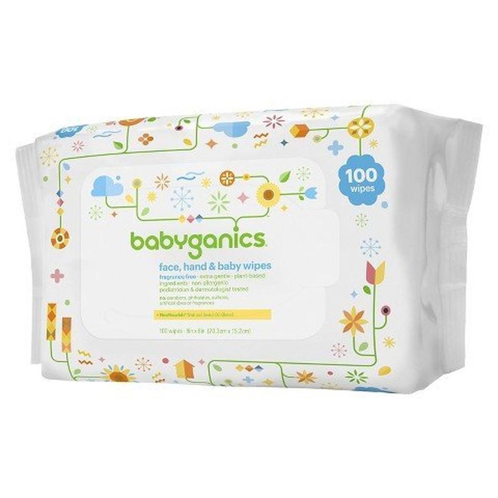 ~彤彤小舖~BabyGanics 植物性手臉嬰兒超溫和濕紙巾無酒精無香100 抽美國 BG