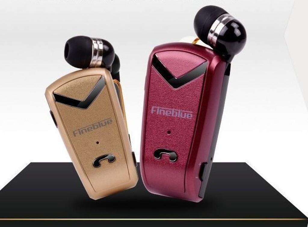 F V2 領夾式藍牙耳機身歷聲藍牙4 0 來電報號一拖二高端商務型890