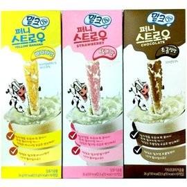 韓國 F B 神奇牛奶吸管草莓香蕉巧克力奶油餅乾四種口味35 公克~韓國 大人小孩都喜愛