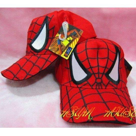 復仇者聯盟蜘蛛人網帽帽子遮陽帽卡車帽鴨舌帽 帽童帽