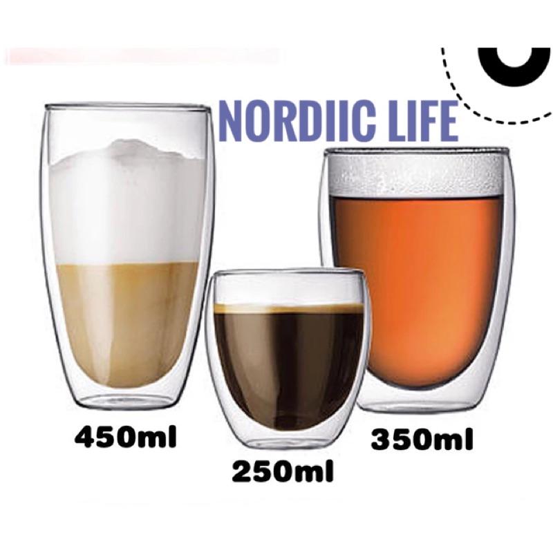 雙層玻璃杯咖啡杯果汁杯啤酒杯保溫隔熱類bodum