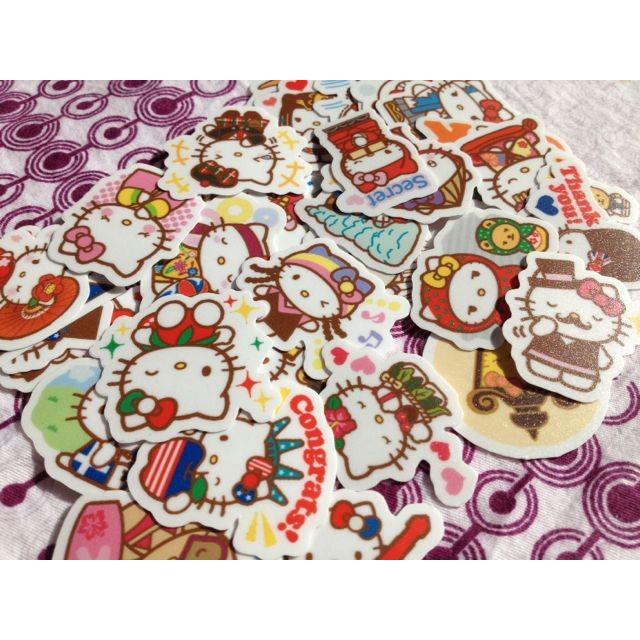 Hello Kitty 環遊世界自制手帳相冊貼紙40 張120