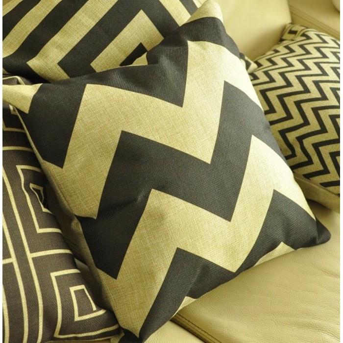 北歐IKEA 風黑白 簡約幾何圖形棉麻抱枕家居佈置午安枕沙發枕靠背腰靠可拆洗含枕心