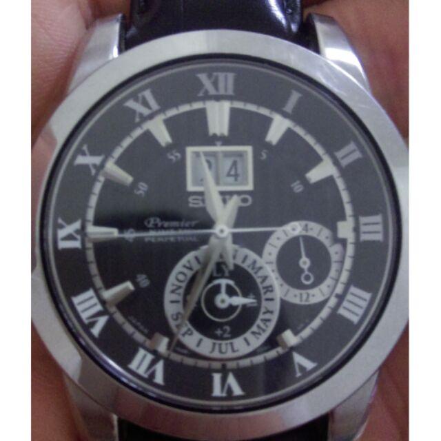 精工SEIKO SNP093J2 7D56 0AB0J 人動電能萬年曆腕錶黑42mm 貨